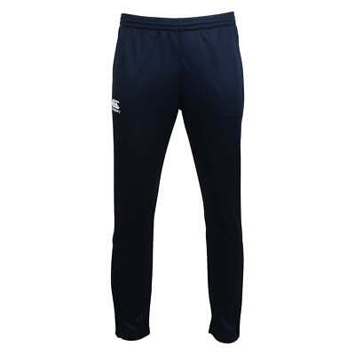 Canterbury Kid's Stretch Tapered Poly Knit Skinny Pants Navy