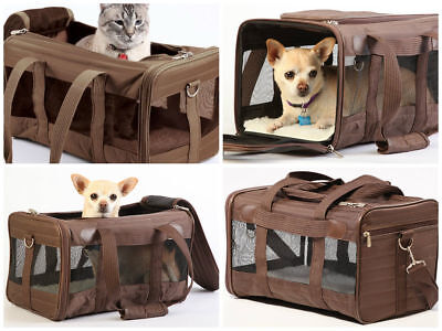 Sherpa Deluxe Carrier Pet Dog Cat Travel Bag Soft Sided Comfort Airline Medium