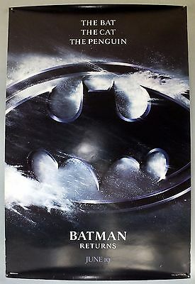 Batman Returns -Michael Keaton/danny Devito- Original Usa One Sheet Movie Poster