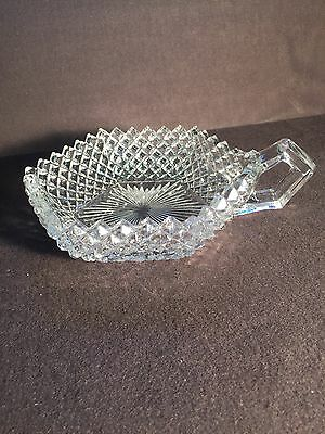 Westmoreland glass English Hobnail clear dish with handle