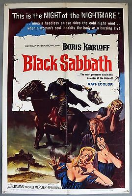 Black Sabbath - Boris Karloff - Original American One Sheet Movie Poster