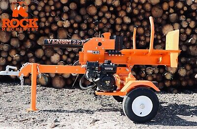 22ton Venom 2017 Log Splitter towable With Table by Rock Machinery