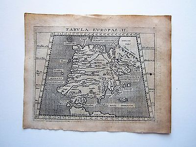 SPAIN ancient Spain Magini Ptolemy 1617 orig. antique map
