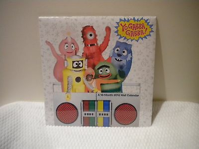 New wrapped 2010 Yo Gabba Gabba 16 month  wall calender (FROM 2010)