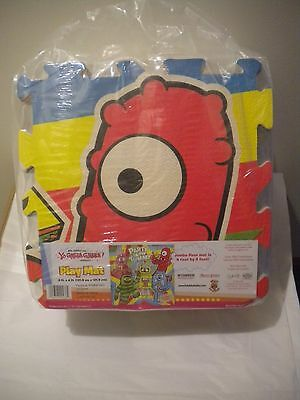 New RARE 2011 Yo Gabba Gabba Jumbo Floor Mat 4'x 4' Party in My Tummy