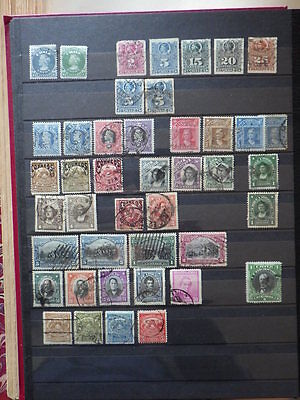43x Classical Timbres Stamps CHILI CHILE Used * Oblit. 1877-1912 (2 Unused)