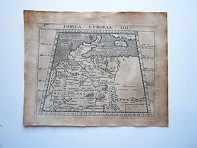 GERMANY ancient Germany  Magini Ptolemy 1617 orig. antique map