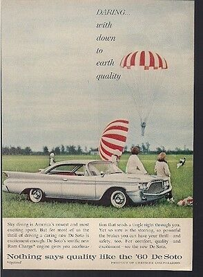 DeSoto Ram Charge Engine Nothing Says Quality Vintage Ad 1960