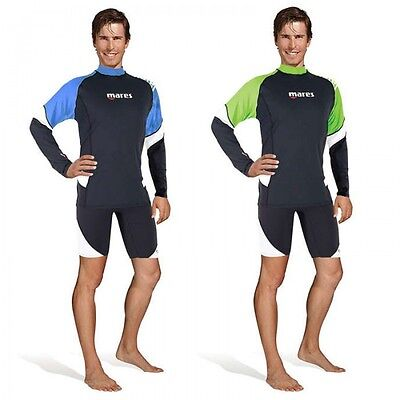 Mares Rash Guard Loose Fit Long Sleeve Herren Gr. XS-XXXL blau oder lime