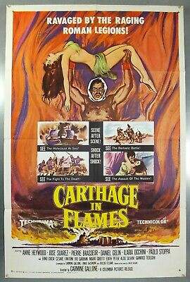 Carthage In Flames - Anne Heywood - Original American One Sheet Movie Poster