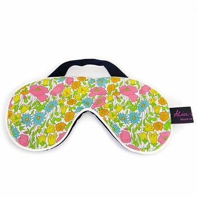 Famous Liberty London Fabric Poppy And Daisy Print Pretty Cotton Padded Eye Mask