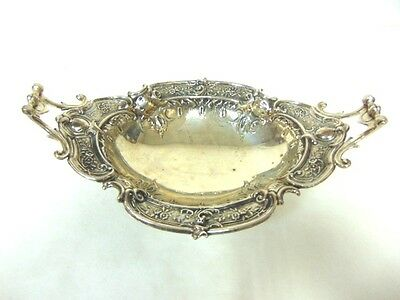 Vintage Antique Art Nouveau Ornate Silverplate Serving Dish