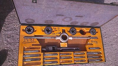 Ex MOD A/F Imperial Tap and Die Set Top Quality Heavy Duty Case