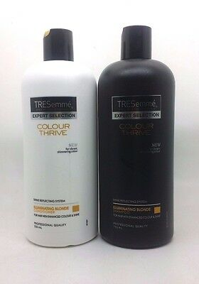 Tresemme Colour Thrive SHAMPOO & CONDITIONER SET for Blonde Hair 750ml each