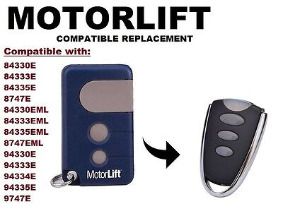 Chamberlain Liftmaster Motorlift 84335EML Compatible Replacement Remote Control