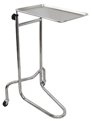 Mayo Double Post Medical Instrument Stand Physician Rolling Mobile Tattoo Tray