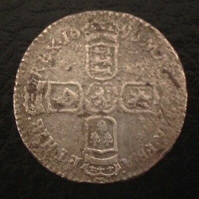 1696 King William III Sixpence Silver Coin
