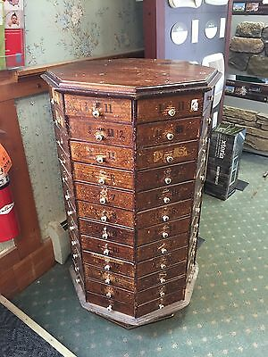 Revovling Vintage Antique 96 drawer cabinet