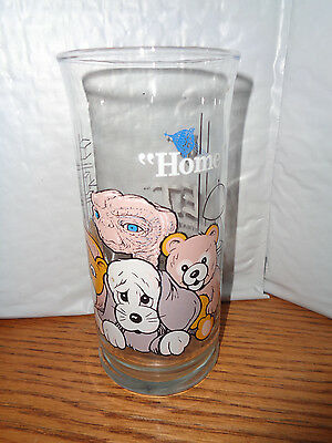 "1982 Vintage - E.T. Extra-Terrestrial Drinking Glass - Pizza Hut - ""Home"""