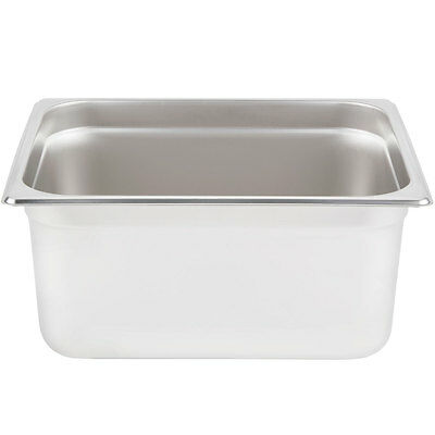 "Half Size Stainless Steel 6"" Deep Steam Prep Table Hotel Pan Buffet Hotel 1/2"