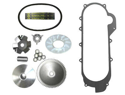 Front Clutch Variator and Drive Belt GY6 50cc 49cc QMB139 Long Case Scooters