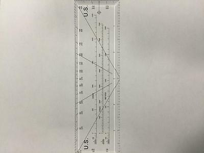 Adir Rectangular Clear Protractor Ruler