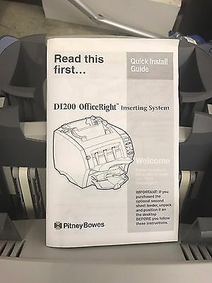 Pitney Bowes DI200 Office Right Folding and Inserting System   (A3D)