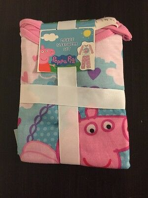 New With Tags Peppa Pig 2 Piece Pajama Sleepwear Set 4T Free Shipping Komar Kids