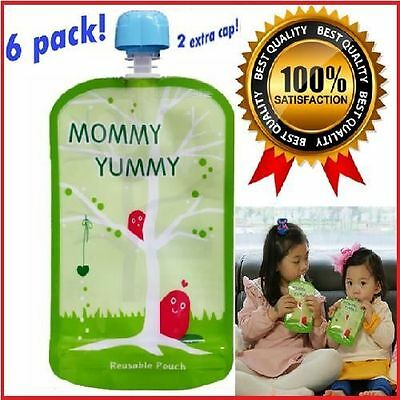 reusable squeeze pouch for Infant Baby Food station Wide Zipper easy clean Puree