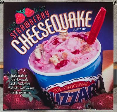 Dairy Queen Promotional Poster For Backlit Menu Sign Strawberry Blizzard dq2