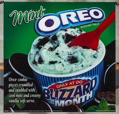 Dairy Queen Promotional Poster For Backlit Menu Sign Mint Oreo Blizzard dq2