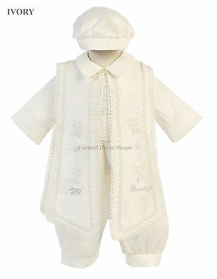 New Baptism Outfit Cute Christening Attire Little Boys Formal Church Wedding