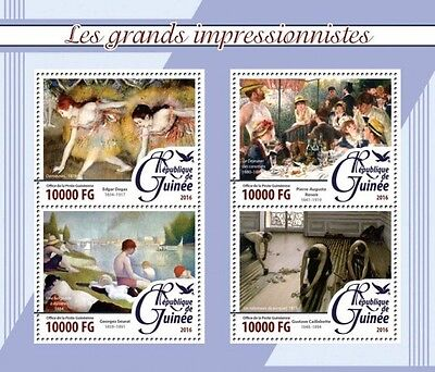 Z08 Imperforated GU16209a GUINEA 2016 Impressionists MNH