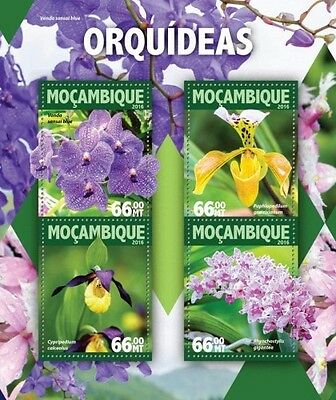 Z08 IMPERFORATED MOZ16105a MOZAMBIQUE 2016 Orchids MNH