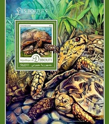 Z08 IMPERFORATED DJB16403b DJIBOUTI 2016 Turtles MNH