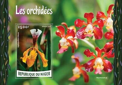 Z08 IMPERFORATED NIG16218b NIGER 2016 Orchids MNH