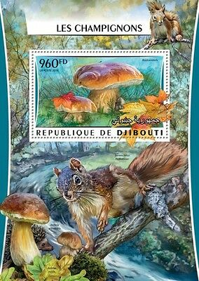 Z08 Imperforated DJB16302b DJIBOUTI 2016 Mushrooms MNH