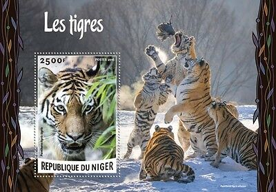 Z08 IMPERFORATED NIG16224b NIGER 2016 Tigers MNH