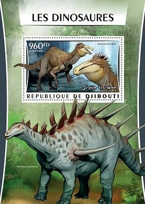 Z08 Imperforated DJB16304b DJIBOUTI 2016 Dinosaurs MNH