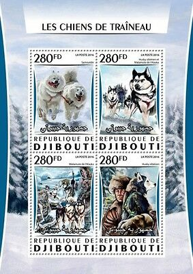 Z08 Imperforated DJB16306a DJIBOUTI 2016 Huskies MNH