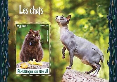 Z08 Imperforated NIG16203b NIGER 2016 Cats MNH