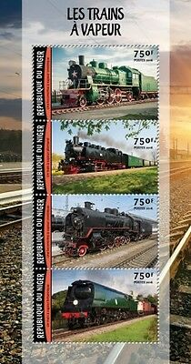 Z08 IMPERFORATED NIG16222a NIGER 2016 Trains MNH