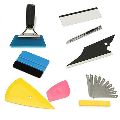 8x Squeegee Car Window Tinting Film Wrapping Auto Install Applicator Tools Kits