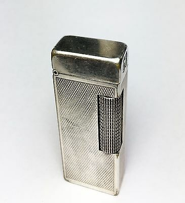 Silver Plated Dunhill Rollagas lighter, Barley, great condition, 100% working