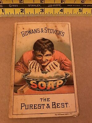 1800's Victorian Trade Card Gowans & Stovers Soap