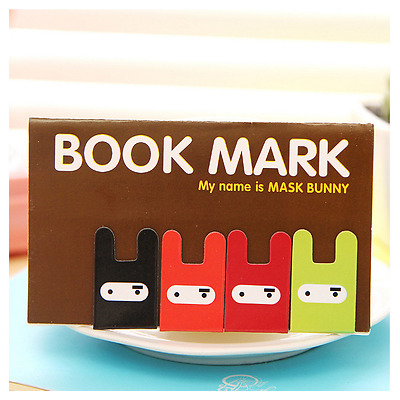 4Pcs Magnet Bookmarks Note Memo Stationery Novelty Gift - Style 1