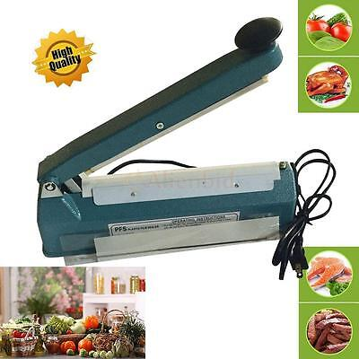 "8"" Impulse Manual Bag Sealer Heat Seal Closer Machine Poly Sealing Free Element"