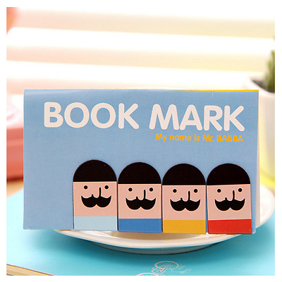 4Pcs Magnet Bookmarks Note Memo Stationery Novelty Gift - Style 2