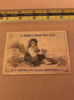 1800's Victorian Trade Card Dr Morse's Indian Root Pills