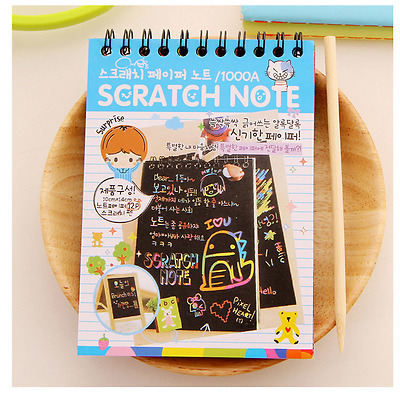 Notebook Scratch Paper Note Drawing Educational Toys Kids Stationery Set - Blue